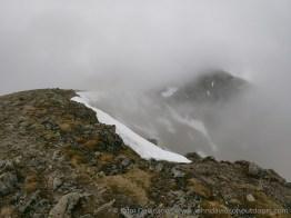 On the ridge looking across Coire an t-Saighdeir towards Cairn Toul.