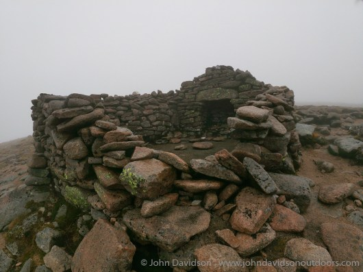 Sappers' hut on Ben Macdui - a welcome sight en route to the summit in the mist.
