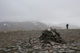 Approaching the summit of Toll Creagach.
