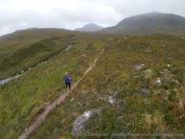Making progress up Drochaid Coire Lair towards Fuar Tholl.