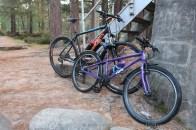 Bikes at the Cairngorm Club Bridge.