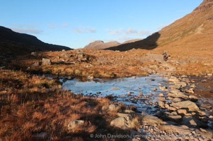The stepping stones in Coire Dubh Mor.
