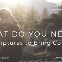 Day 6 - What Do You Need? 13 Scriptures to Bring Comfort