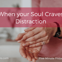 When Your Soul Craves Distraction (FMF: Distraction)