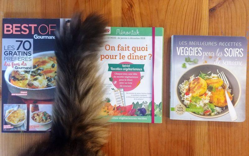 Menus de la semaine et mes livres de cuisine chouchous