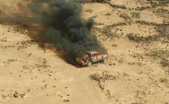 Jordan strikes armored vehicles on Syrian border.