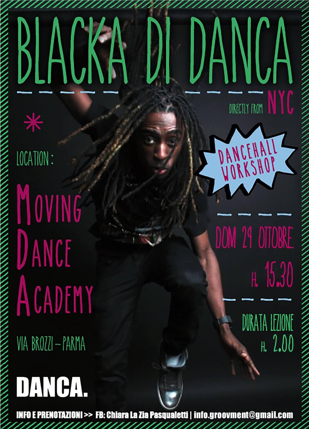 Dancehall Workshop with Blacka di Danca Parma