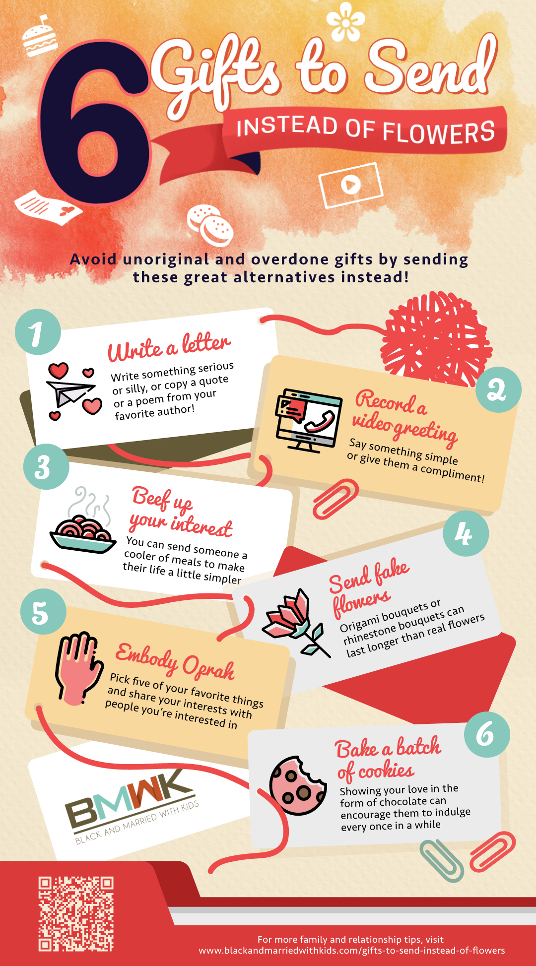 infographic | 6 Gifts To Send Instead Of Flowers | for her