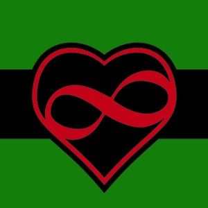 black polyamory flag