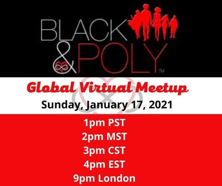 black and red announcement of meetup with date and time