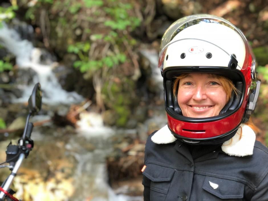 Melinda Briana Epler with bell bullitt helmet