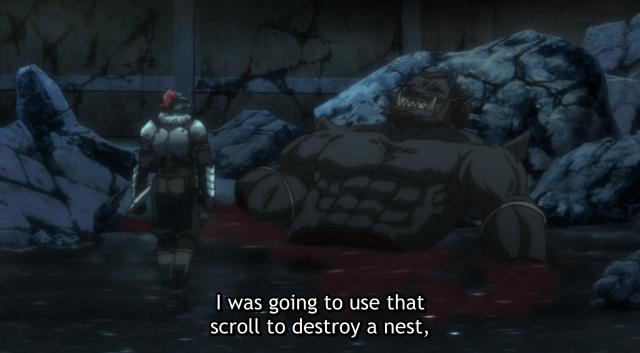 Goblin Slayer Dying Ogre