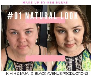 Bridal natural look makeup tutorial before and after shot in Melbourne