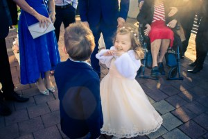 children playing in a Melbourne wedding ceremony captured by fine art wedding photographer in Melbourne