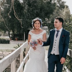 Melbourne couple having their rustic wedding at Immerse Yarra Valley captured by Black Avenue Productions