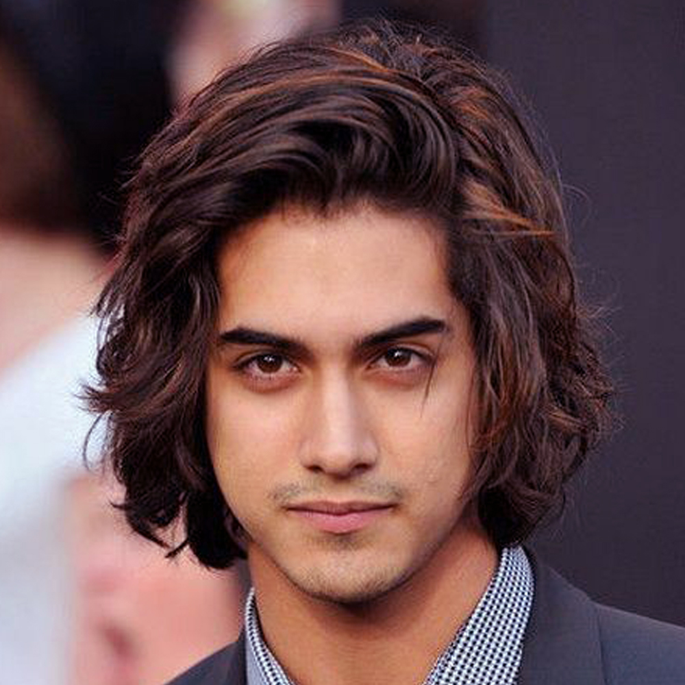 Mens Hairstyles For Round Faces With Long Short Medium - Long hairstyle for round face man