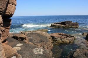 Rugged Maine coast line