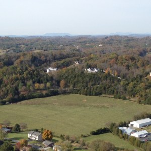 View toward Knoxville and House Mountain