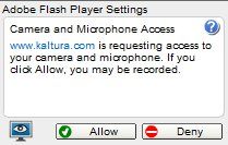 Flash webcam warning