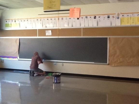 Overboard - Preparing the Old Chalkboard - Kratzer Elementary
