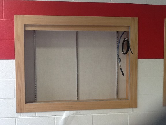 Recessed Display Case - Perry Elementary