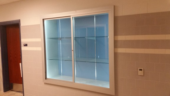 Recessed Display Case - Central Columbia High School