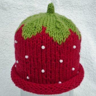 Bonnet fraise - strawberry hat, 14.35€