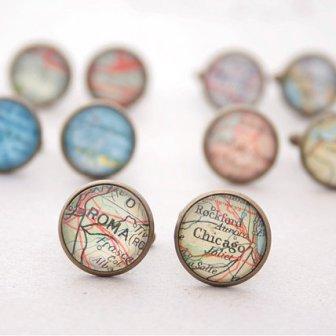 Boutons manchette voyage - travel cufflinks, 144.40€