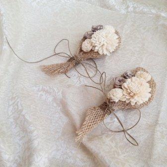Boutonnière fleurs - flower boutonniere, 9.39€