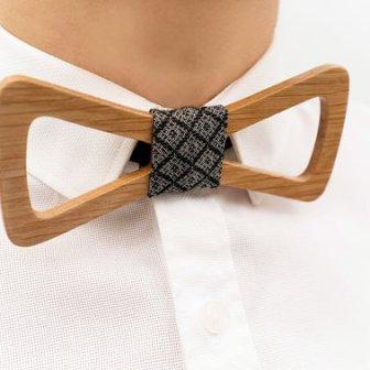 Noeud papillon bois - wood bow tie, 24.32€