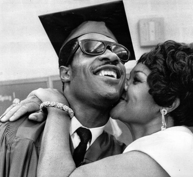 Stevie Wonder and Mom