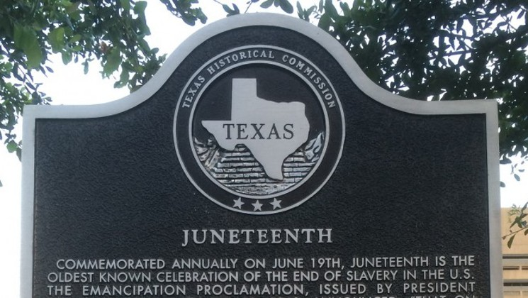 Juneteenth Texas Memorial Stone