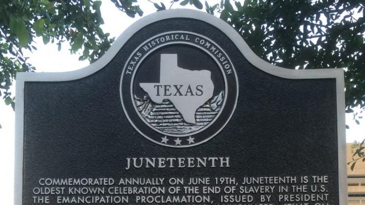 Juneteenth Texas Memorial Stone