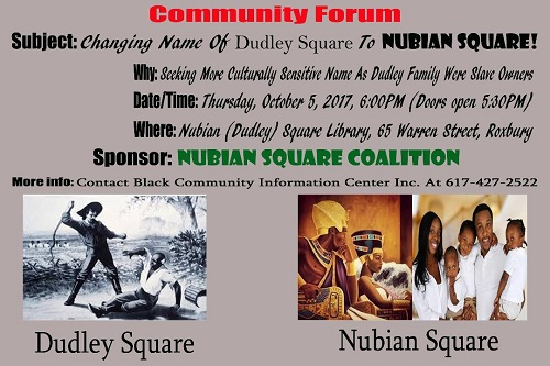 BCIC Nubian Name for Dudley Meeting