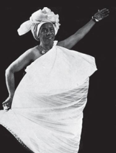 Mercedes numa cena de seu balé afro - união do balé clássico com a cultura negra