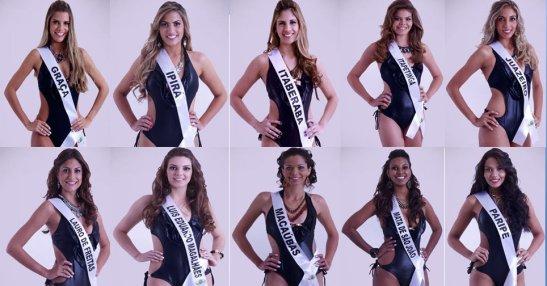 Contestants of Miss Bahia 2013 contest