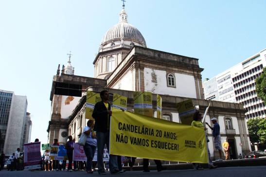 Candelária Nunca Mais (Never Again) march remembered the victims of the massacre