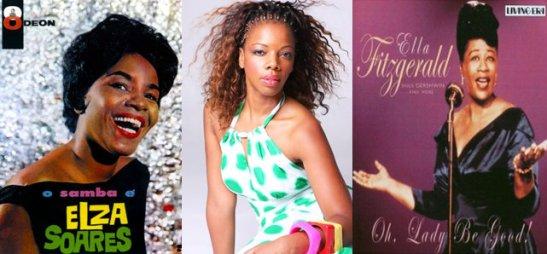 Singer Mara Nascimento (center) will present a show in tribute to singers Elza Soares and Ella Fitzgerald