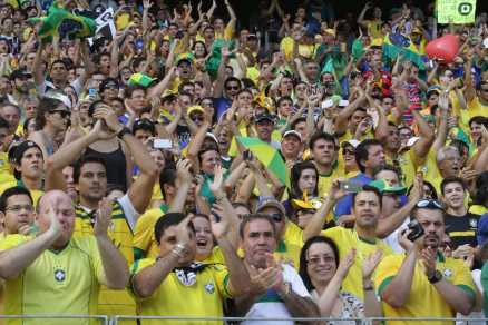 Fans at one of Brazil's national soccer team's games