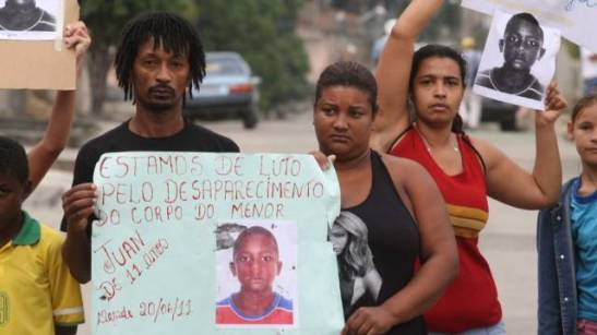 Friends and family rallied to find Juan's missing body; after police murdered him they hid the boy's body