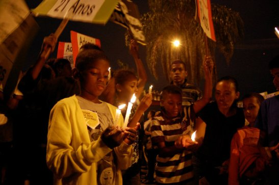 July 2 rally and vigil to remember those murdered in the massacre in Maré favela