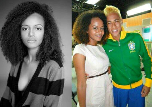 Joyce with soccer superstar Neymar (right)