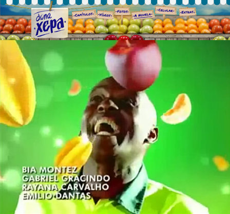 "Rio streep sweeper Renato Sorriso in the intro of the novela ""Dona Xepa"""