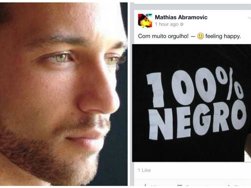 Mathias Abramovic with his photo posted on his Facebook profile after learning that he had been approved as an afrodescentende in the 1st phase of the Foreign Ministry selection process