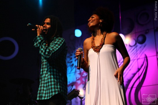 Luciana with Alexandre Carlo of the band Natiruts