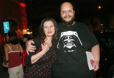 Popular singer/musician Ed Motta and wife Edna Lopes