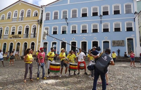 The historic Pelourinho area of Salvador, Bahia, in northeastern Brazil