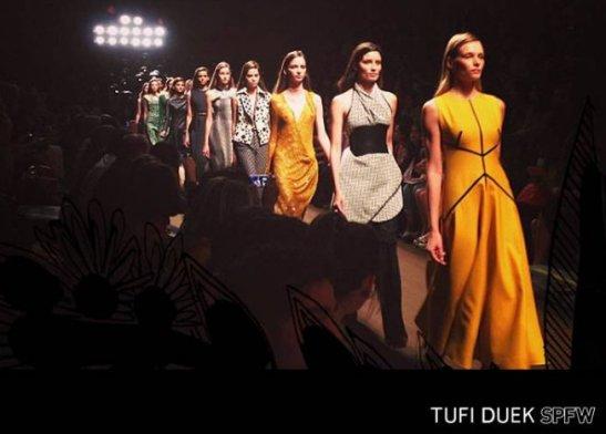 Tufi Durek brand fashion parade at SPFW for Fall/Winter 2014