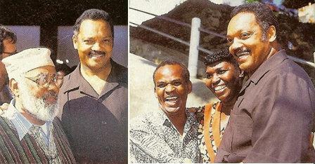 Jackson with Abdias do Nascimento (left), Antonio Pitanga and Benedita da Silva