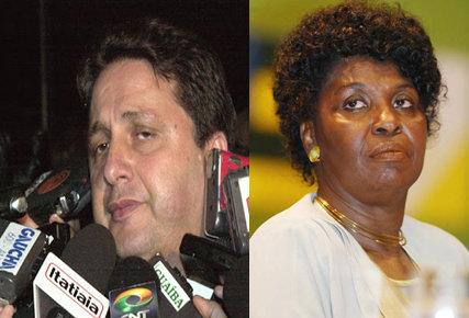 Former Rio de Janeiro governors, Anthony Garotinho (left) and Benedita da Silva